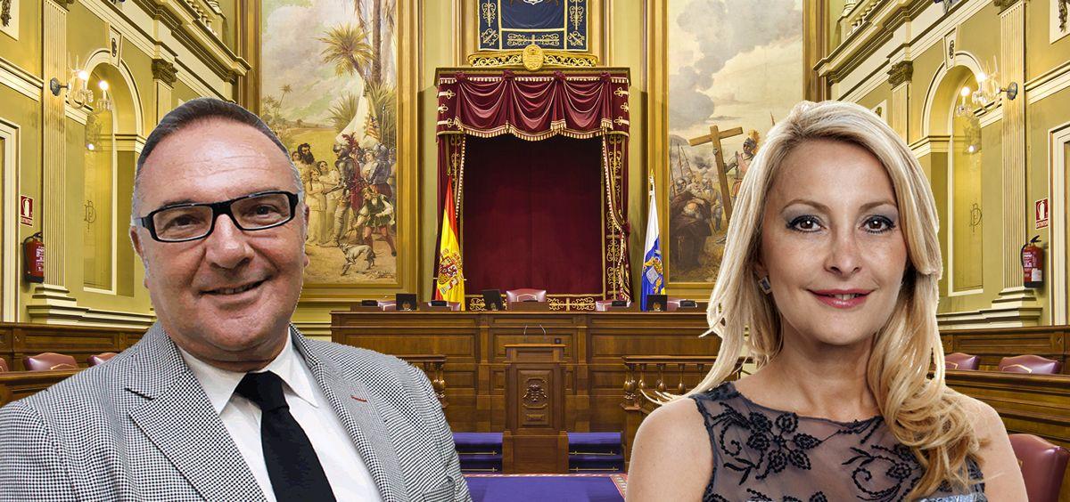 José Manuel Baltar, consejero de Sanidad de Canarias, y María Australia Navarro, diputada del PP.