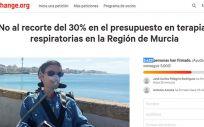 Inician una campaña en Change.org para que declaren nulo el consurso de oxigenoterapia de Murcia