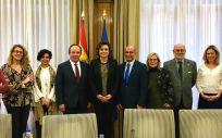 Imagen de la Comisión de Seguimiento sobre el convenio de colaboración entre el Ministerio de Sanidad y la POP.