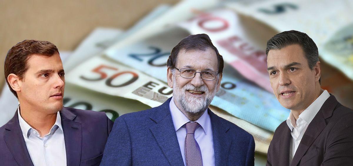 Albert Rivera, Mariano Rajoy y Pedro Sánchez