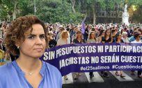 Colectivos feministas critican a Dolors Montserrat por la falta de presupuesto para el Pacto de Estado contra la Violencia de Género.