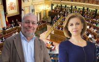 Francisco Igea, portavoz de Sanidad de Ciudadanos, y María Dolores de Cospedal, ministra de Defensa.