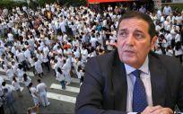 El consejero de Sanidad de Castilla y León, Antonio María Sáez Aguado, ha mantenido un encuentro con las plataformas sanitarias este jueves.