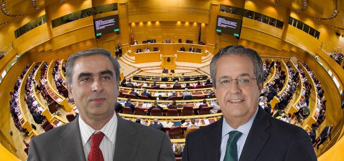 José Martínez Olmos y Antonio Alarcó, portavoces de Sanidad de PSOE y PP en el Senado.