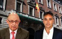 Cristóbal Montoro, ministro de Hacienda, y los máximos responsables de Satse y CESM, Manuel Cascos y Francisco Miralles.
