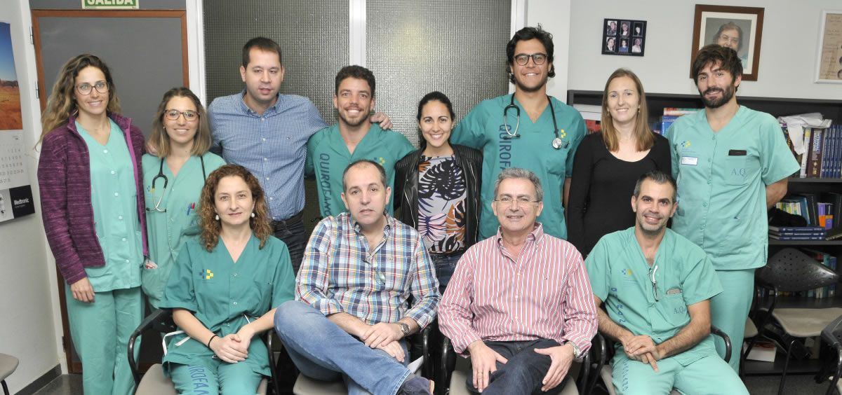 Parte del equipo del Servicio de Anestesiología y Reanimación del centro