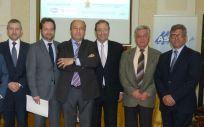 De izq. a drcha.: Benito del Castillo, Andoni Lorenzo, Fernando Prados, Mariano Avilés, Mario Mingo, José Luis Plaza y Antonio Bernal