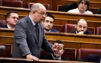 El diputado de Ciudadanos, Francisco Igea, durante una sesión en el Congreso