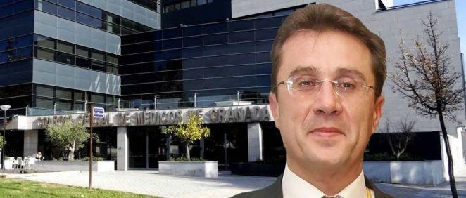 El presidente del Colegio Oficial de Médicos de Granada, Jorge Fernández Parra