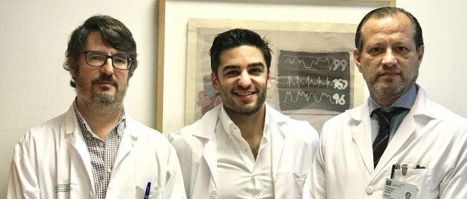 Los investigadores Carlos Porras Martín, Víctor Manuel Becerra Muñoz y Fernando Cabrera Bueno