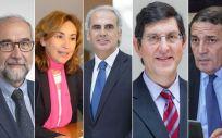 Fernando Domínguez, María Martín, Enrique Ruiz Escudero, Manuel Villegas y Antonio Mª Sáez Aguado