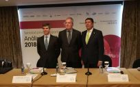 De izquierda a derecha: Adolfo Fernández-Valmayor, Luis Mayero y Manuel Vilches