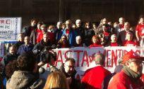 Afectados de hepatitis C durante una de sus protestas