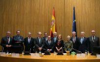 Patronos y miembros Junta Rectora de la Fundación para la Protección Social de la Organización Médica Colegial con la presidenta del Congreso de los Diputados