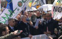 Francisco Miralles, secretario general del CESM, durante la manifestación médica del pasado 21 M
