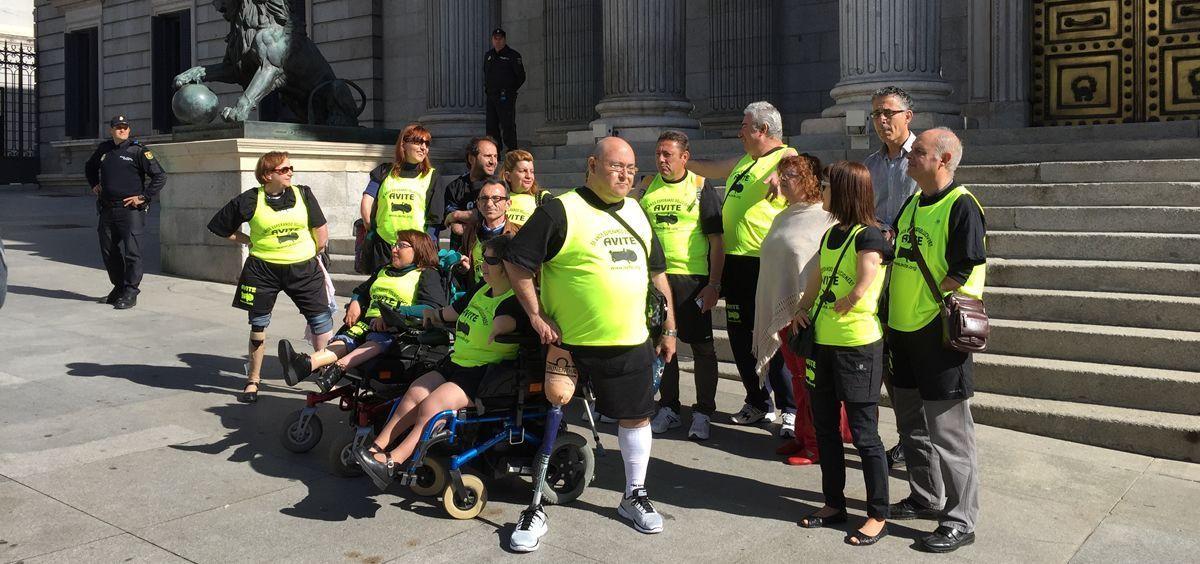 Afectados de la talidomida de Avite durante una de sus protestas (Foto. ConSalud.es)
