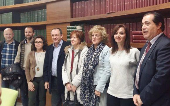 Representantes de la Consejería de Salud de la Junta de Andalucía y de las plataformas sanitarias.