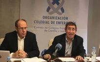 """Alfredo Escaja, presidente del Consejo, y José Antonio Castellanos, secretario, han denunciado  la """"injusta situación"""" de las enfermeras en la carrera profesional"""