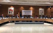Inicio de la Conferencia Médica en la sede del Ministerio de Sanidad, Servicios Sociales e Igualdad, este miércoles