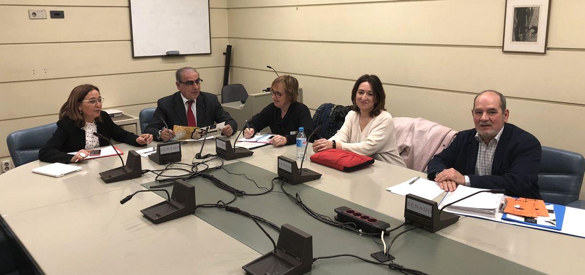 Reunión de senadores del PSOE con representantes de AFASAF.