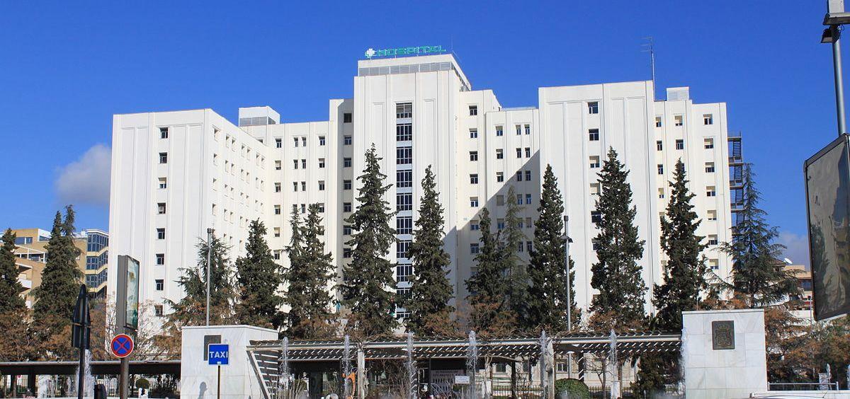 Fachada del Hospital Universitario Virgen de las Nieves de Granada, del SAS