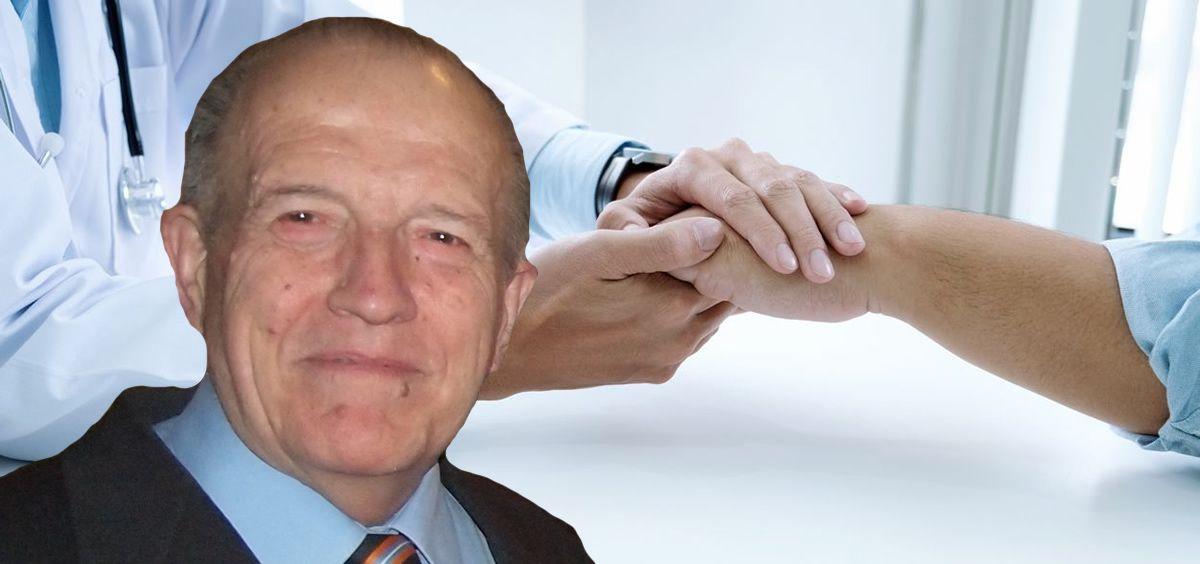 El doctor Pedro Cía, coordinador del grupo de trabajo de Cuidados Paliativos del Colegio Oficial de Médicos de Zaragoza