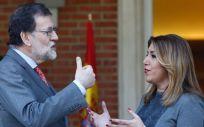 El presidente del Gobierno, Mariano Rajoy, y la presidenta de la Junta de Andalucía, Susana Díaz, han abordado la reforma del sistema de financiación.
