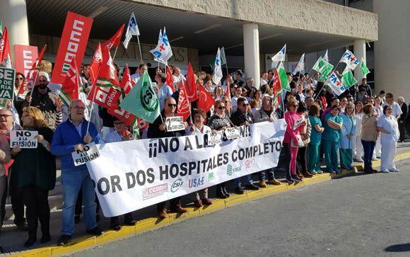 Los hospitales de Granada mantendrán la plantilla previa al inicio de la fusión