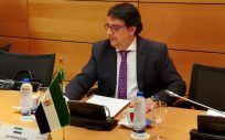José María Vergeles, consejero de Sanidad de Extremadura, en la sede del Ministerio de Sanidad.