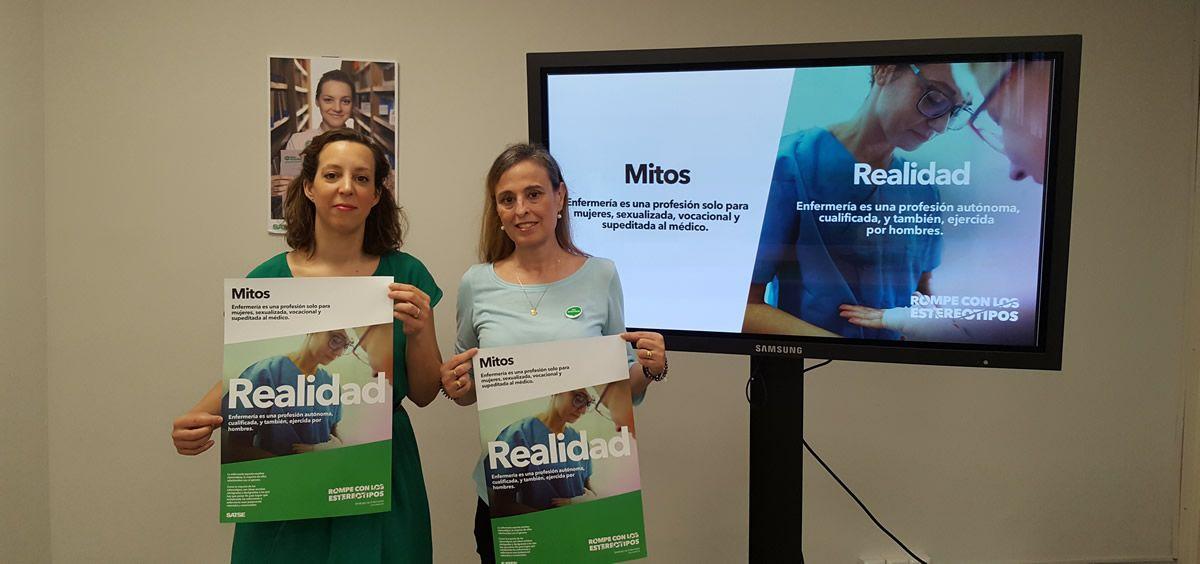 Mar Rocha y María José García, durante la presentación de la nueva campaña este jueves en Madrid
