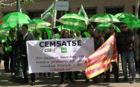 """Cemsatse Aragón, en las calles de Zaragoza reclamando la recuperación de """"todos los derechos perdidos"""""""