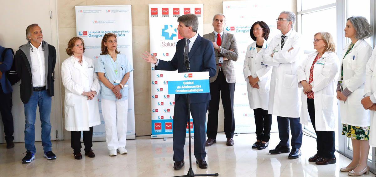 El presidente regional en funciones, Ángel Garrido, ha visitado hoy las nuevas instalaciones del Gregorio Marañón