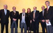 El doctor Diego Lorenzo, en el centro de la imagen, vicepresidente de Lavinia-Asisa y delegado en Murcia