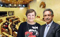 La consejera de Sanidad, María Luisa Real, y el presidente cántabro, Miguel Ángel Revilla, han tenido que dar explicaciones sobre las supuestas irregularidades del SCS.