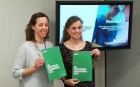 De izquierda a derecha: Mar Rocha y María José García, en la presentación este martes del manual de estilo 'La profesión enfermera, hoy'