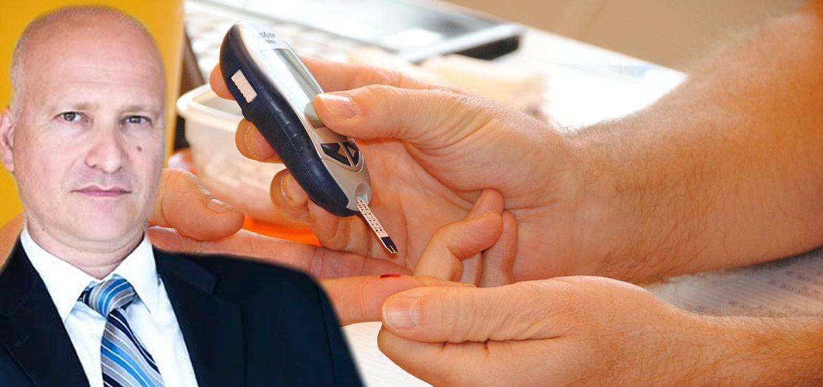 Los pacientes con tiras reactivas de glucosa de los lotes afectados deben descartar su uso. En la imagen, Stefanos Tsamousis, director general de Roche en España