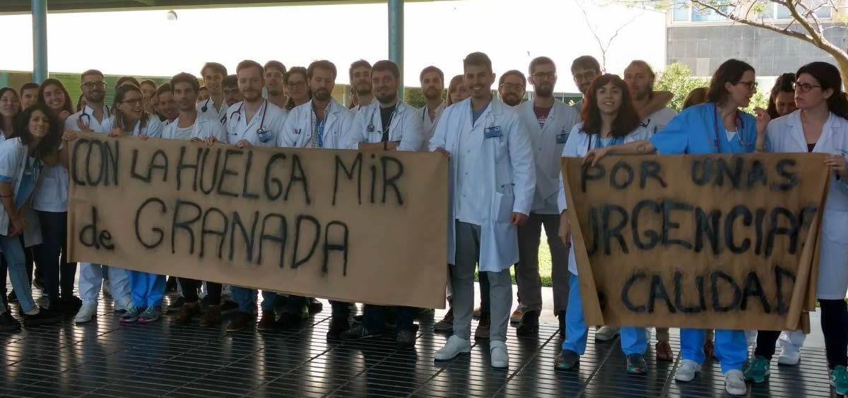 El Hospital del Mar de Barcelona apoya a la huelga de los MIR de Granada