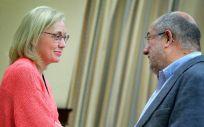 Teresa Angulo y Francisco Igea, portavoces de Sanidad de PP y Ciudadanos en el Congreso.