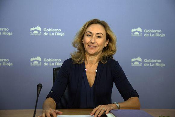 María Martín, consejera de Salud de La Rioja.