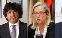 Los tres cargos de Sanidad que más cobran (de izq. a der.) son : Mario Garcés, Maria Jesús Fraile y José Javier Castrodeza.