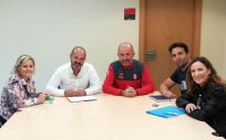 Los representantes de Satse Navarra, reunidos con el interlocutor policial sanitario de la autonomía