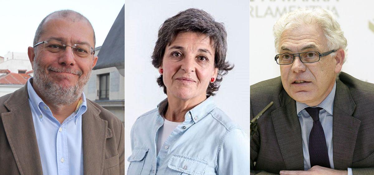 Francisco Igea (Cs), Amparo Botejara (Podemos) y Jesús Fernández (PSOE) han valorado el fondo de sanidad que ha propuesto Cristóbal Montoro.