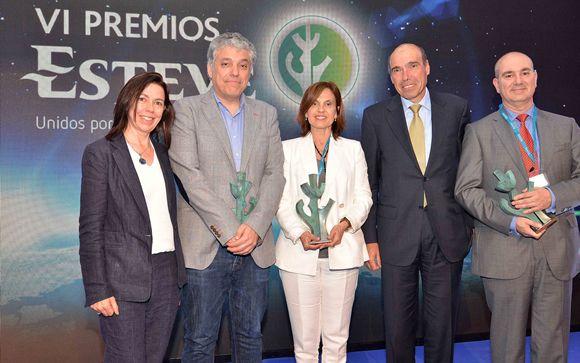 De izq. a drcha.: Valle Coronado, Manuel Ángel Franco Martín, Maria Antonia March, Antoni Esteve y Juan Carlos Palomo Lara