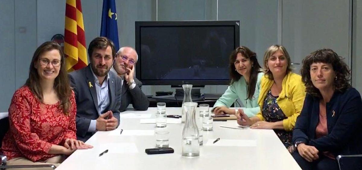 La consejera de Salud de Cataluña, Alba Vergés, ha visitado este martes al exconsejero Toni Comín en Bruselas.