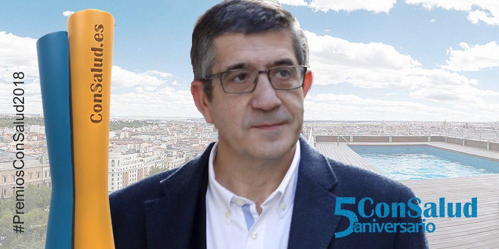 Patxi López, premio ConSalud 2018 al Político del Año más sensibilizado con la Sanidad