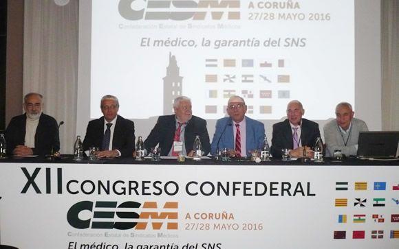 De izq. a drcha.: Los doctores Andión, Toranzo, Tomàs, Sendín, Miralles y Escudeiro