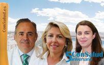 Manuel Conde, director gerente de Ruber Internacional; María Río, directora general de Gilead España; y Dolores Paredes, directora de Actividad de Terapias Respiratorias Domiciliarias de VitalAire (Air Liquide)