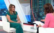 La presidenta de Andalucía, Susana Díaz, durante su entrevista en Canal Sur