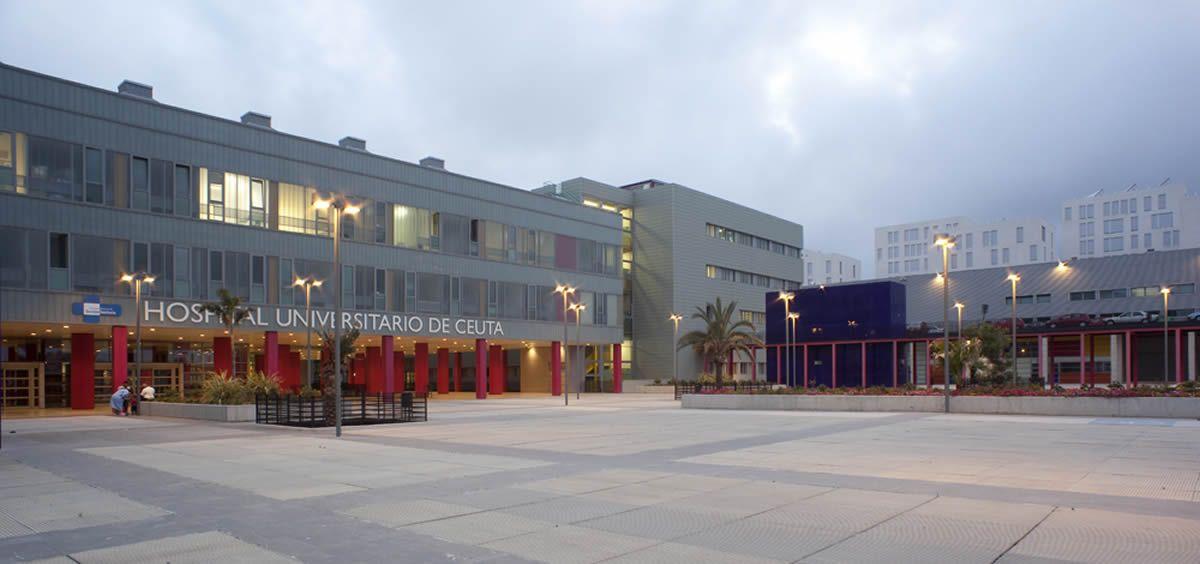 Fachada del Hospital Universitario de Ceuta