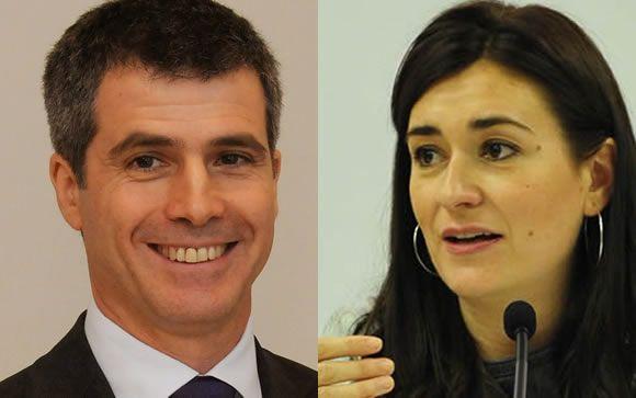 Adolfo Fernández-Valmayor, presidente del IDIS (izquierda) y Carmen Montón, consejera de Salud de Valencia (derecha).
